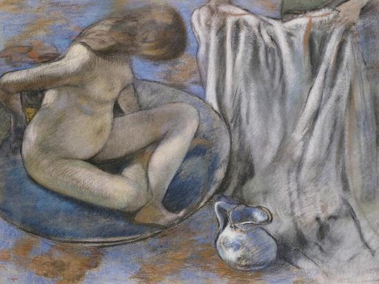 Woman in the Tub, 1884-Edgar Degas-Giclee Print