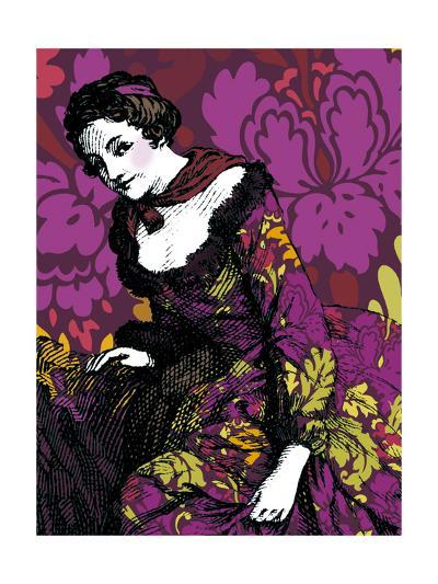 Woman in Violet--Photo