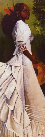 Woman in White I-Boscoe Holder-Art Print