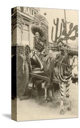 Woman in Zebra Cart, Tijuana, Mexico