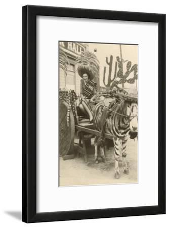 Woman in Zebra Cart, Tijuana, Mexico