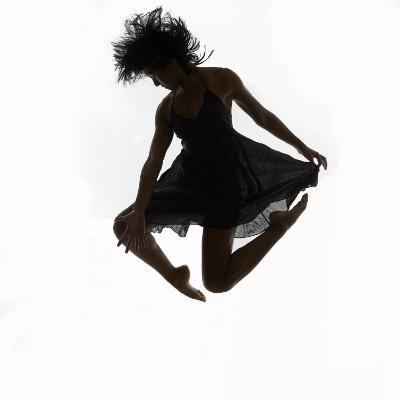 Woman Jumping in the Air Dancing-Alfonse Pagano-Photographic Print