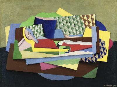 Woman Lying Down-Georges Valmier-Giclee Print