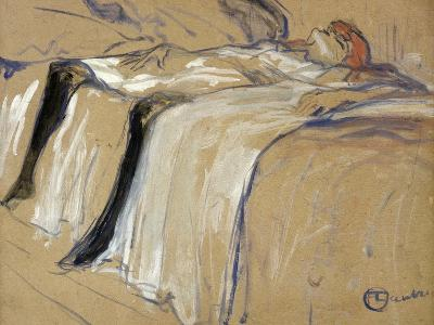 "Woman Lying on Her Back - Lassitude, Study for ""Elles"", 1896-Henri de Toulouse-Lautrec-Giclee Print"