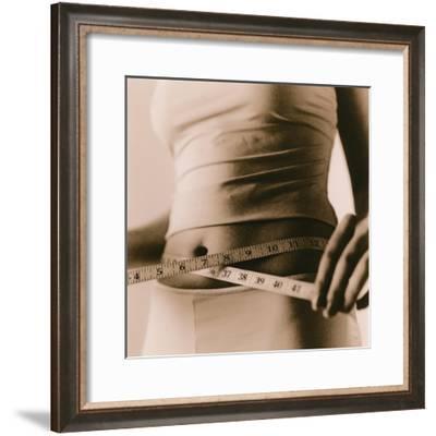 Woman Measuring Her Waist-Cristina-Framed Giclee Print