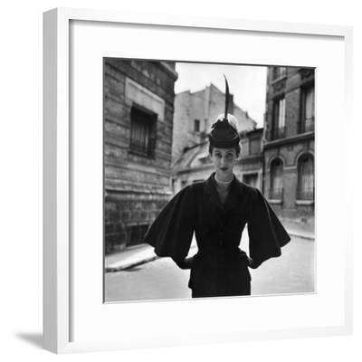 Woman Modeling a Full Sleeved Suit-Gordon Parks-Framed Premium Photographic Print