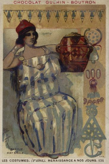 Woman of Kabylie, Algeria, 19th Century--Giclee Print