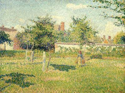Woman on a Lawn-Camille Pissarro-Giclee Print