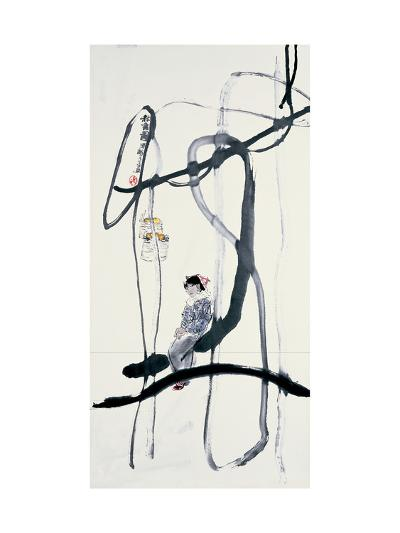 Woman on a Swing-Zui Chen-Giclee Print