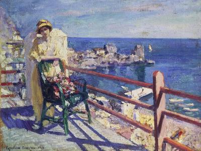Woman on a Terrace (Gursuph), 1914-Alexejew Konstantin Korovin-Giclee Print