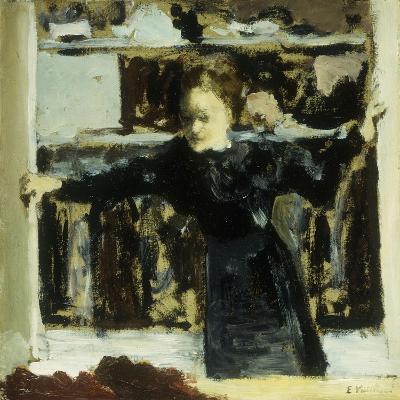 Woman Opening a Window-Edouard Vuillard-Giclee Print