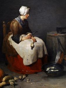 Woman Peeling Turnips, Ca. 1740