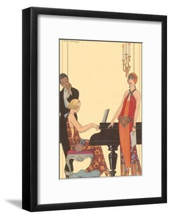 Woman Playing Piano, 1922-Georges Barbier-Framed Giclee Print