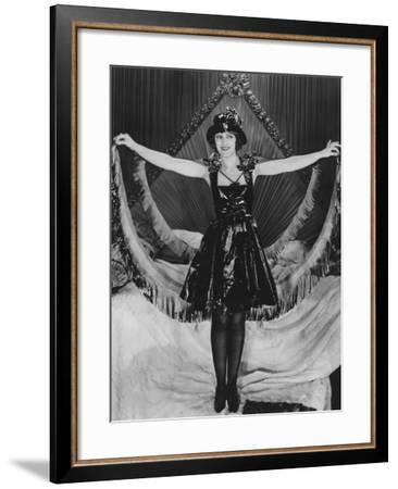 Woman Posing in Party Clothes--Framed Photo