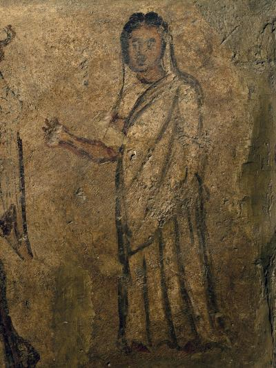 Woman Praying, Funeral Painting from Tomb Near Isernia, Campania, Italy, 6th Century--Giclee Print