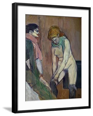 Woman Pulling on Her Stockings, 1894-Henri de Toulouse-Lautrec-Framed Giclee Print