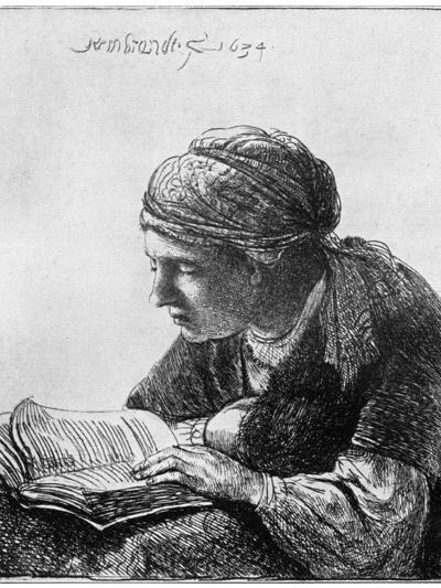 Woman Reading, 1634-Rembrandt van Rijn-Giclee Print