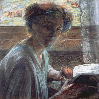 Woman Reading, 1909-Umberto Boccioni-Giclee Print