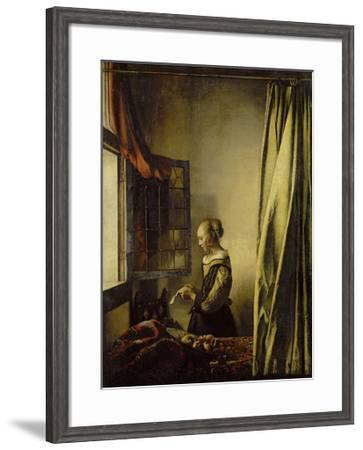 Woman Reading a Letter at an Open Window-Johannes Vermeer-Framed Giclee Print