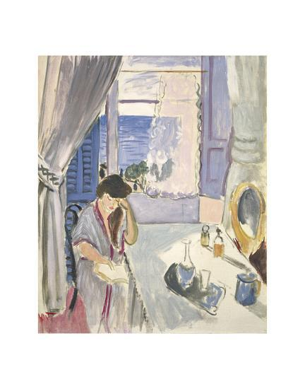 Woman Reading at a Dressing Table, Late 1919-Henri Matisse-Art Print
