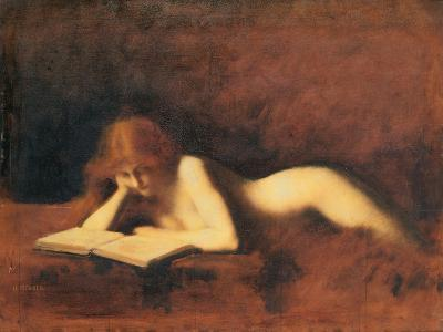 Woman Reading, C. 1880-1890-Jean-Jacques Henner-Giclee Print