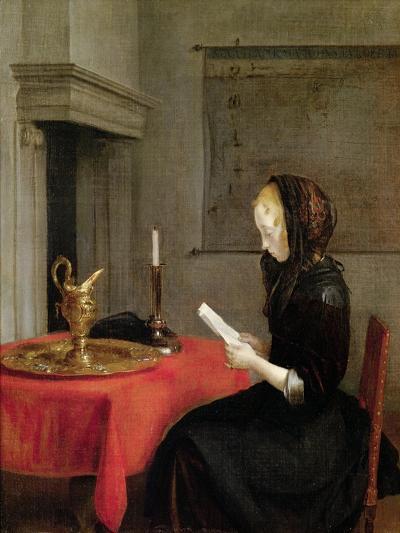 Woman Reading, circa 1662-Gerard Terborch-Giclee Print