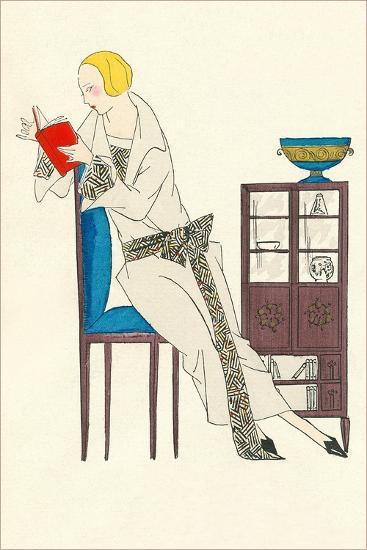 Woman Reading, Fashion Illustration--Art Print