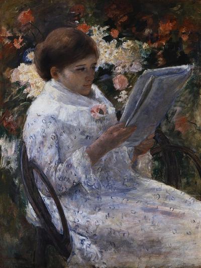 Woman Reading in a Garden-Mary Cassatt-Giclee Print