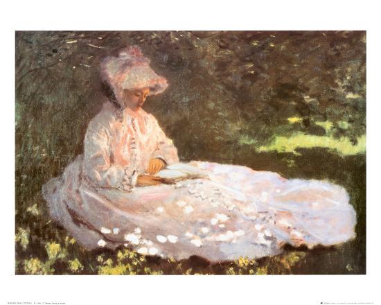 Image result for claude monet woman reading