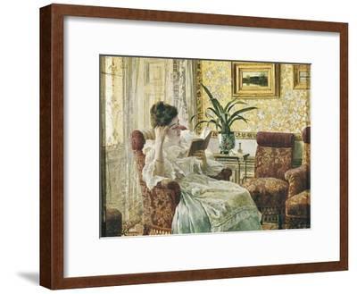 Woman Reading-Ricardo Lopez Cabrera-Framed Art Print