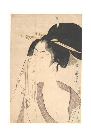 Woman Relaxing after Her Bath, 1790s-Kitagawa Utamaro-Giclee Print