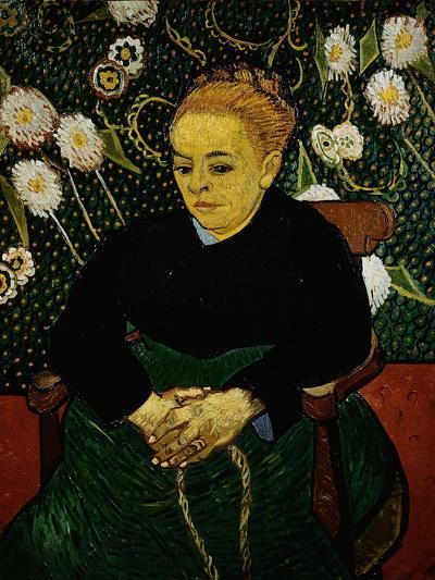 Woman Rocking a Cradle (Augustine Roulin)-Vincent van Gogh-Giclee Print