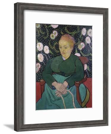 Woman Rocking a Cradle-Vincent van Gogh-Framed Giclee Print