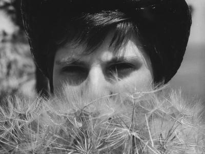 Woman's Face Hidden by Dandelions--Photographic Print