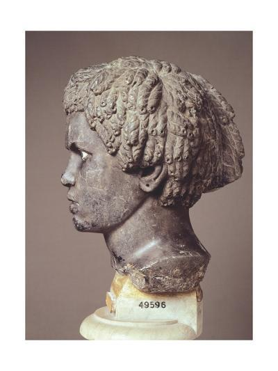Woman's Head, Marble Hellenistic Sculpture--Giclee Print