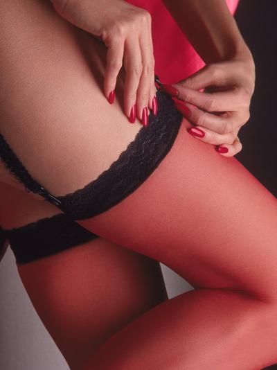 Woman's Stockinged Leg-Sandy Ostroff-Photographic Print