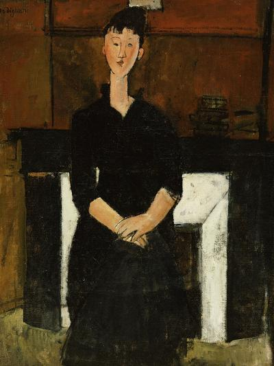 Woman Sat by a Fireplace, 1915-Amedeo Modigliani-Giclee Print