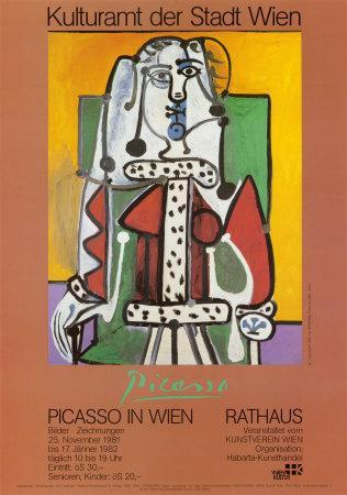 Woman Seated on a Green Chair-Pablo Picasso-Art Print