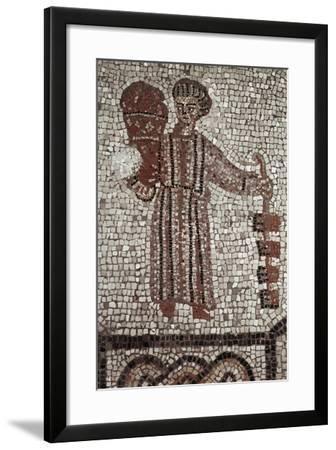 Woman Selling Cakes, Early Christian Mosaic Floor, Patriarchal Basilica of Santa Maria Assunta--Framed Photographic Print