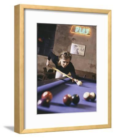 Woman Shooting Pool