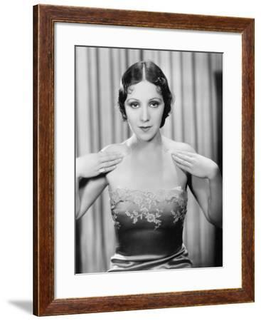 Woman Showing Her Evening Dress--Framed Photo