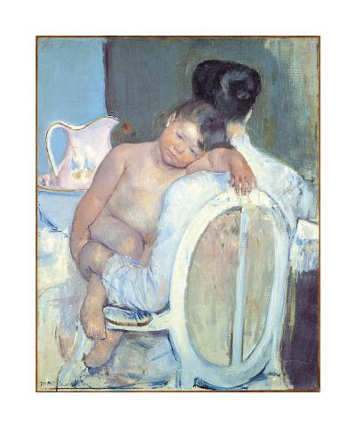 Woman Sitting with a Child in Arms, 1890-Mary Stevenson Cassatt-Premium Giclee Print