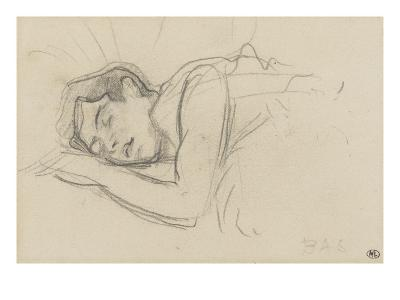Woman Sleeping, Right Cheek Resting on the Left Hand-Henri de Toulouse-Lautrec-Giclee Print
