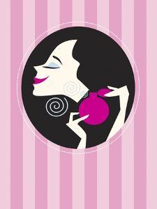 Woman Spraying on Perfume