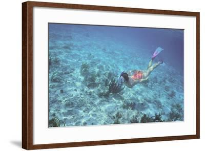 Woman Swimming in the Ocean-DLILLC-Framed Photographic Print