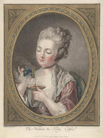 Woman Taking Coffee-Louis-Marin Bonnet-Giclee Print