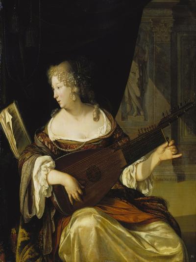 Woman Tuning Her Lute, 1678-Eglon Hendrick Van Der Neer-Giclee Print