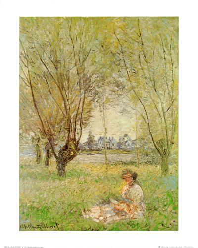 Woman Under the Willows-Claude Monet-Art Print