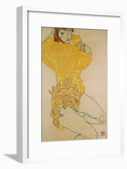 Woman Undressing, 1914-Egon Schiele-Framed Giclee Print