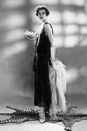 Woman Wearing Chanel Dress, 1928